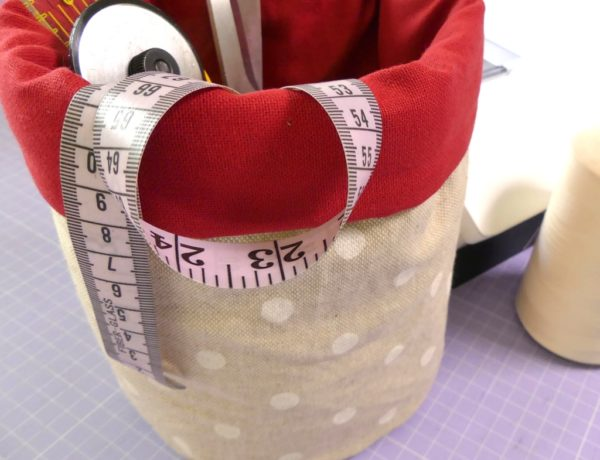 come cucire un cestino imbottito rotondo - sara poiese