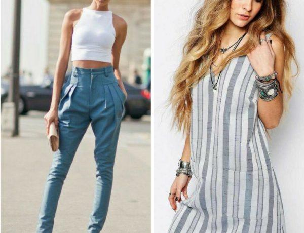 Jeans a vita alta e smanicato - Sara Poiese