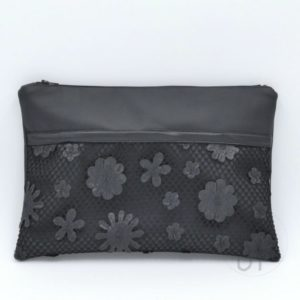 cover 01 flower leather clutch - sara poiese