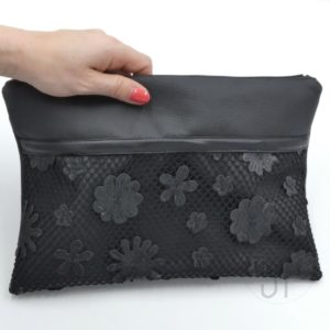 cover 04 flower leather clutch - sara poiese