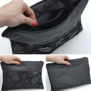 cover 05 flower leather clutch - sara poiese