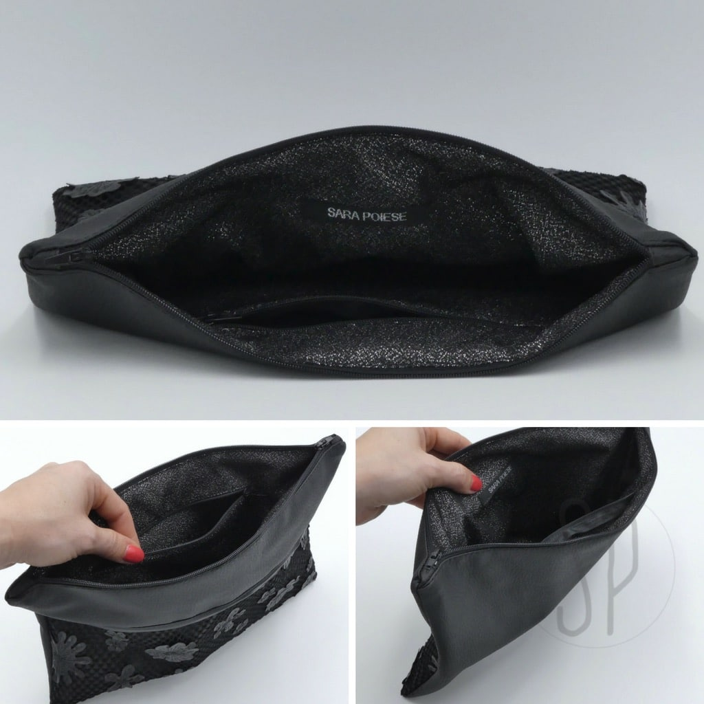 cover 06 flower leather clutch - sara poiese