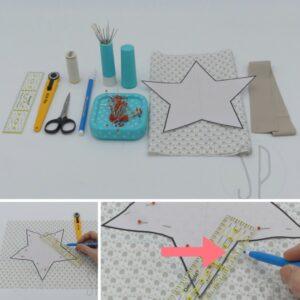 01 - come cucire la stellina imbottita - sara poiese