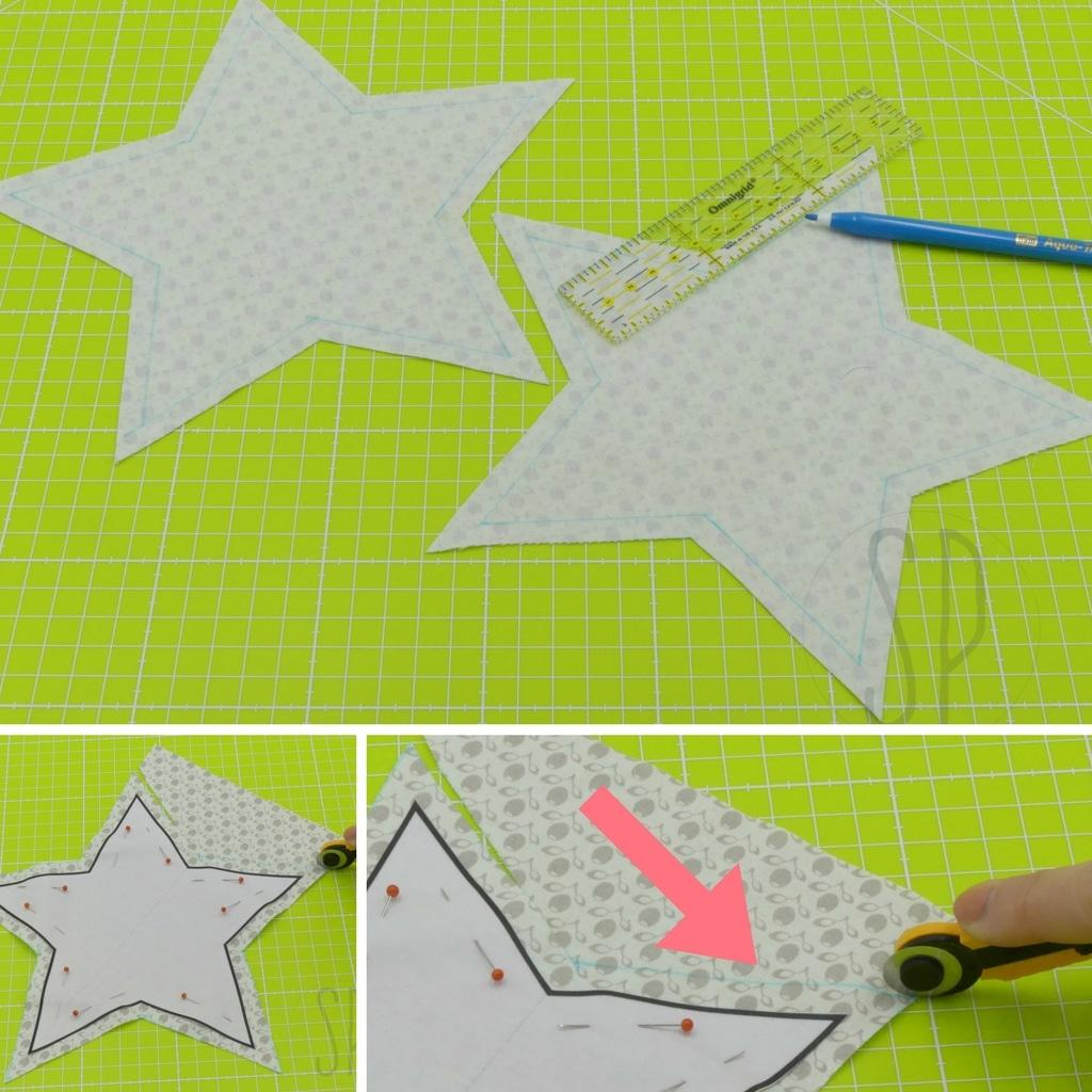 02 - come cucire la stellina imbottita - sara poiese