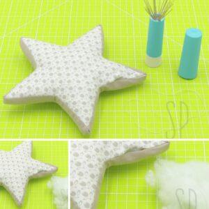 05 - come cucire la stellina imbottita - sara poiese