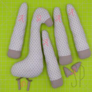 09 - come cucire la giraffa - i pupazzi di sara poiese