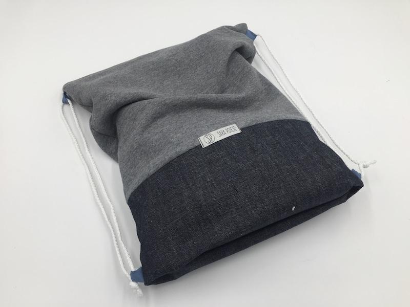0 - come cucire uno zainetto in jeans e felpa - sara poiese