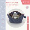 cover BLOG cartamodello beauty case con cerniera P1033 - sara poiese