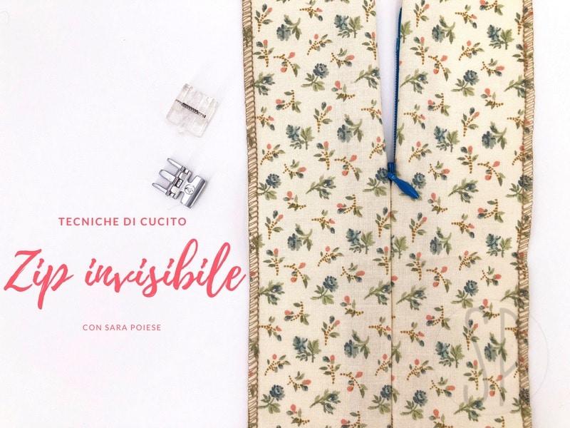 Come cucire la zip invisibile cerniera invisibile - con sara poiese