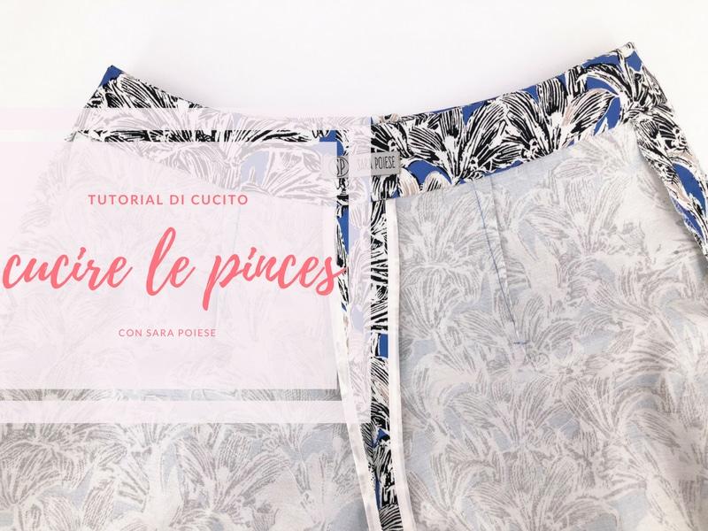 Cucire le pinces usando la carta copiativa con Sara Poiese