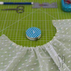 Cucire il top Butterick B6450 con sbieco e arricciatura con Sara Poiese