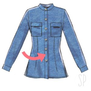 cucire la lista abbottonatura della camicia con sara poiese