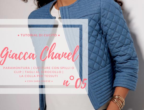 Giacca Chanel: lezione 05 | paramontura | cuciture con spilli o clips | tagli al girocollo | la colla per tessuti | con Sara Poiese