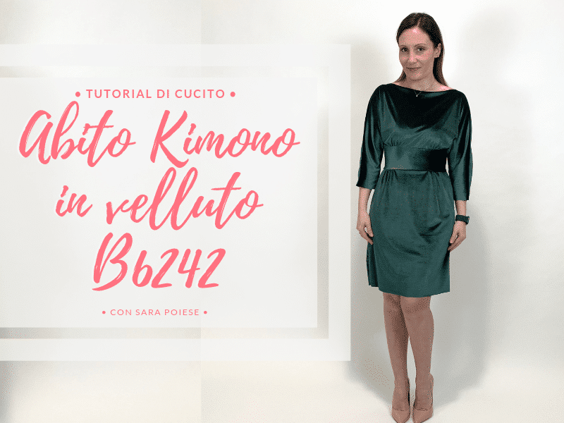 abito kimono B6242 con Sara Poiese