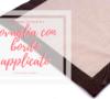 Cucire la tovaglia con bordo applicato | angolo 45 | tovaglietta con angoli | tutorial Sara Poiese