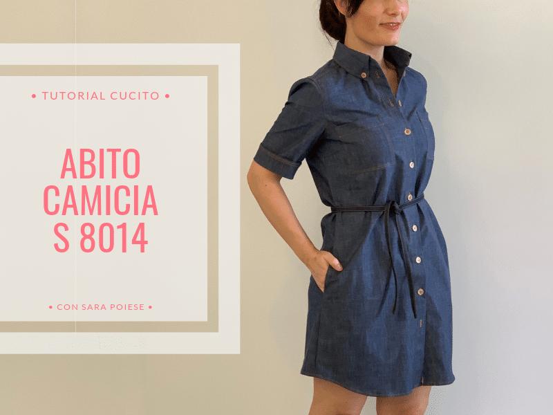 abito camicia S8014 | cucire jeans | cucire camicia con tasche | in sartoria con Sara Poiese