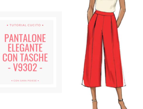 BLOG | pantalone elegante con tasche V9302 | con Sara Poiese