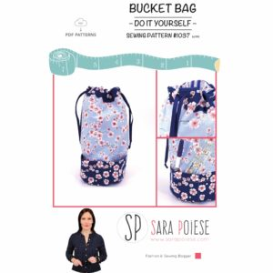 blog pattern 1037 | Sara Poiese | bucket Bag | tutorial e cartamodello