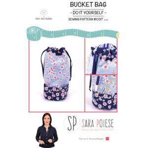 blog pattern 1037 | Sara Poiese | bucket Bag | tutorial e cartamodello