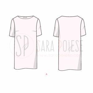 P1003-A-variante abito - cartamodello PDF minidress - Sara Poiese