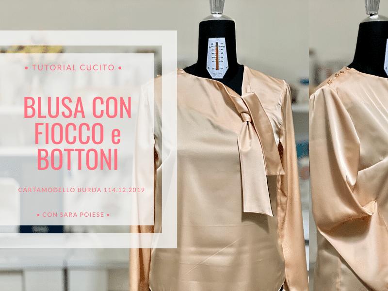 Come cucire la blusa con fiocco | cartamodello Burda 114 dicembre 2019