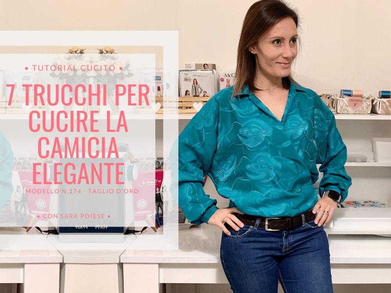7 trucchi per cucire una camicia INCROCIATA elegante - tutorial in sartoria con Sara Poiese