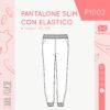 cartamodello pantalone P1002 - cover - sara poiese - versione STANDARD
